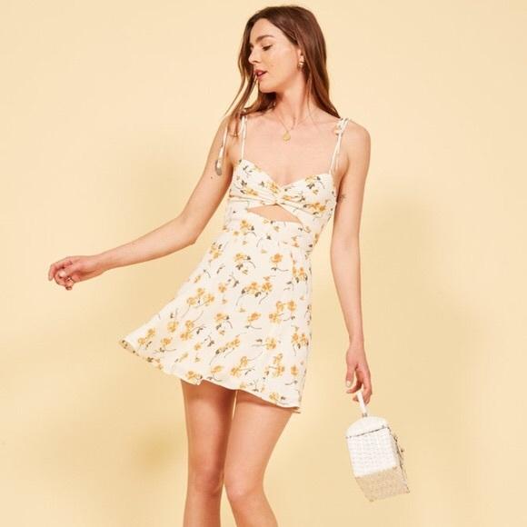 78d07f18d4e Reformation Tamara Dress in Limonada. M_5bac34651b32943bcb37e550